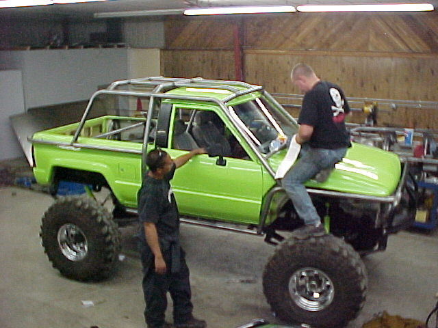 Exo cage help ih8mud forum - Interior roll cage for toyota pickup ...