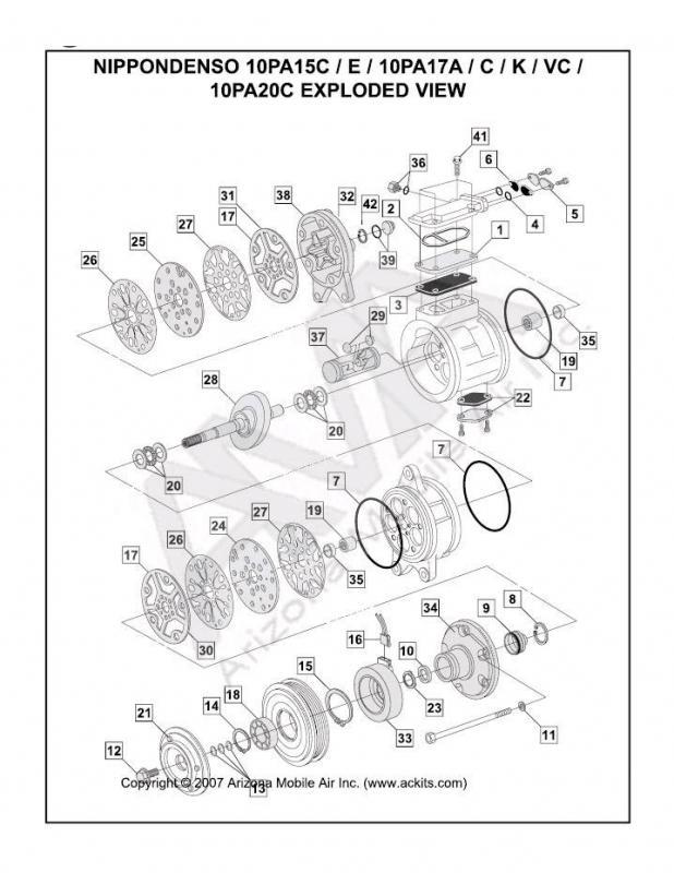 Ac System Seals  Diagram Available   Santech Mt2580 Set For 1993