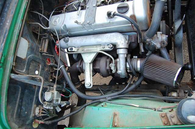 Mercedes benz om617 turbo diesel engine conversion on a fj for Mercedes benz om617