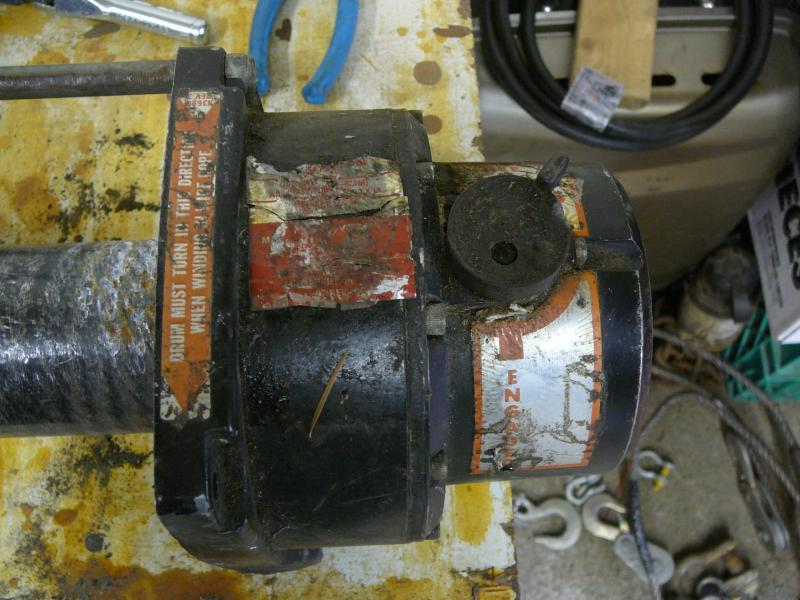old m6000 ih8mud forum the wire rope i removed as it was showing it s age and i wanted to test the motor out having to worry about wire going all over