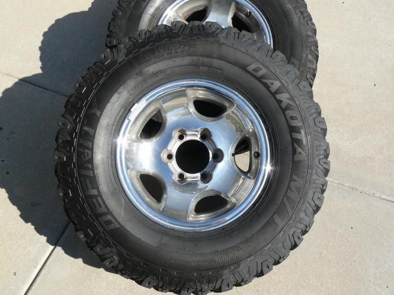 East Bay Tire >> For Sale - FZJ80 Wheels and 285-75-16 MT Tires (San Diego ...