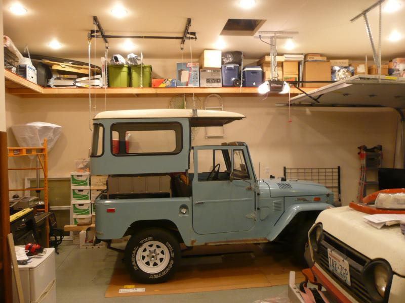 Garage Lift System >> FJ40 Hardtop Lift Storage System | IH8MUD Forum