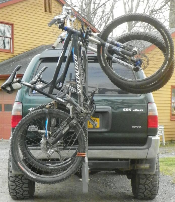 Bike Rack Addition To Spare Swing Out Ideas Ih8mud