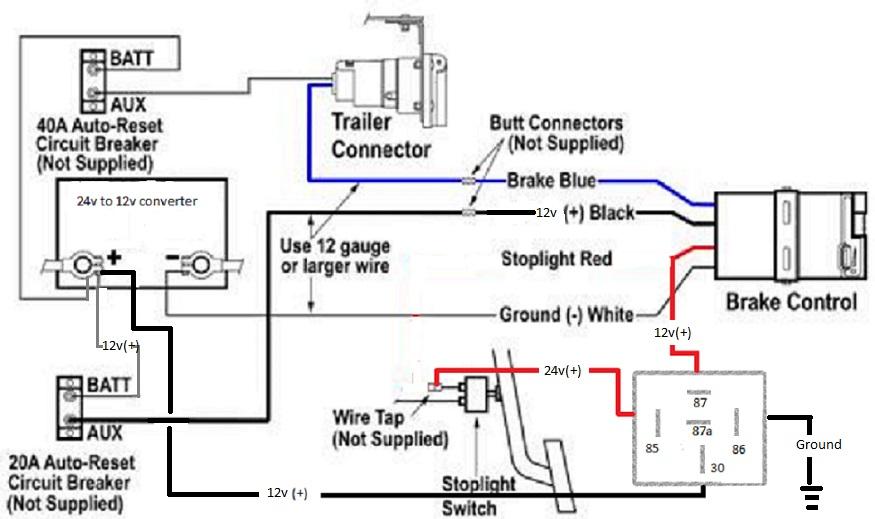 24v cruiser and 12v trailer brakes