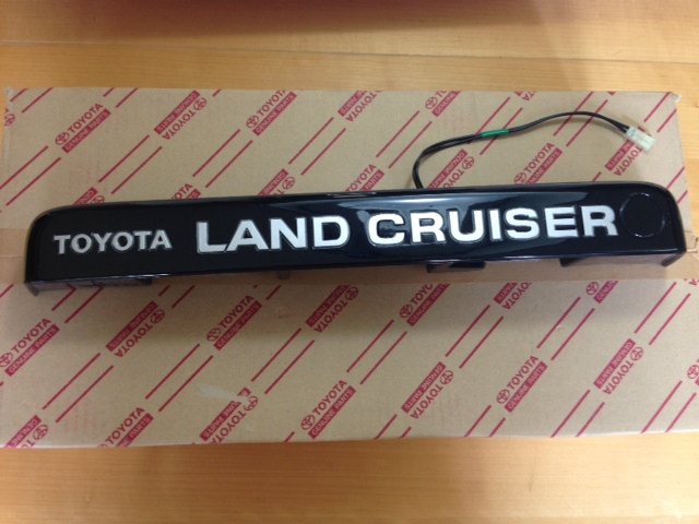 toyota oem jdm offset license plate assembly for 80 series landcruiser in stock ready to ship 215 shipped within the us feel free to let me know if