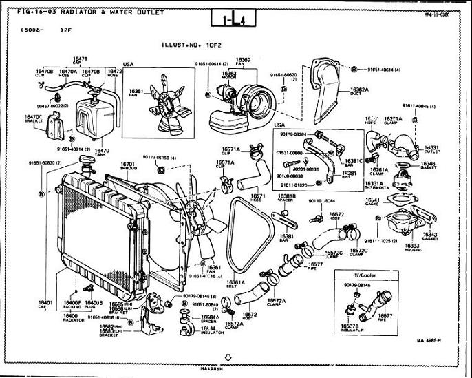 toyota 22re engine diagram parts list  toyota  auto wiring