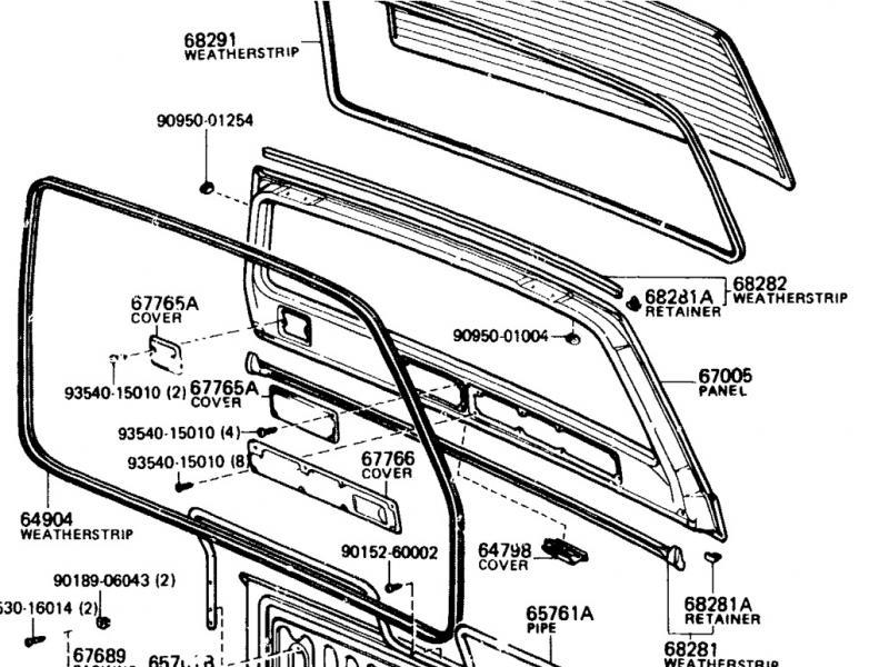 Rear Lift Gate Upper Weatherstrip for Land Cruiser FJ60 FJ62