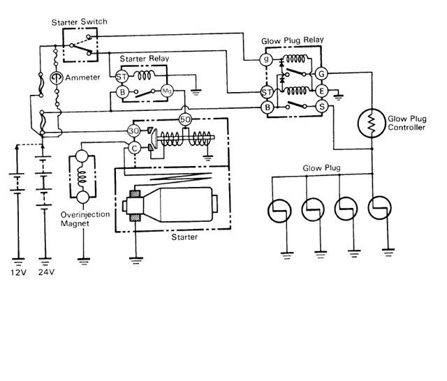 internal wiring of bj bj hj glow relay manual glow page replaceenginefsm jpg