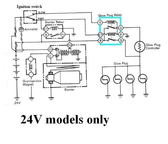 Internal Wiring Of Bj40 Bj42 Hj42 Glow Relay Manual Glow