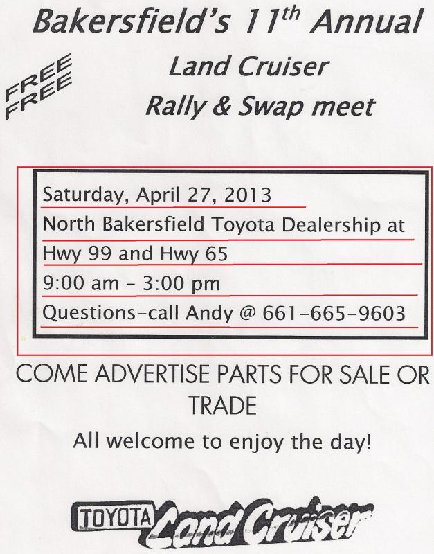 Bakersfield Rally and Swapmeet