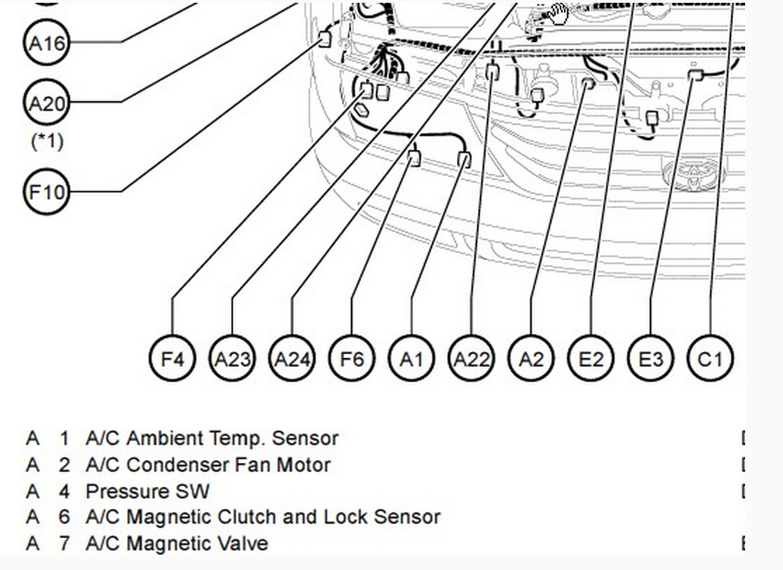 A C Ambient Air Temp Sensor Dash Temp Display Sensor