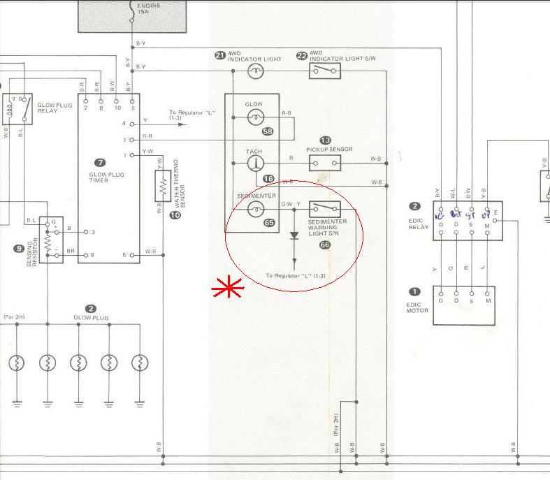 Land Cruiser 100 Wiring Diagram: Can Someone Explain The Fuel Filter Light? HJ47 Land