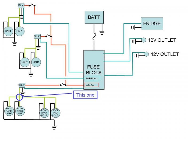 check my accessory wiring diagram ih8mud forum does anyone have any ideas of how i could cleanly make the connection between all four light hot wires and the relay s one connection