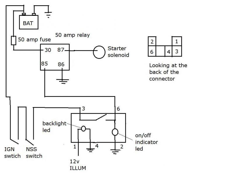 12 volt relay wiring diagram 5 pole drl starter ignition switch bypass circuit question ih8mud forum 12 volt relay wiring schematic #7