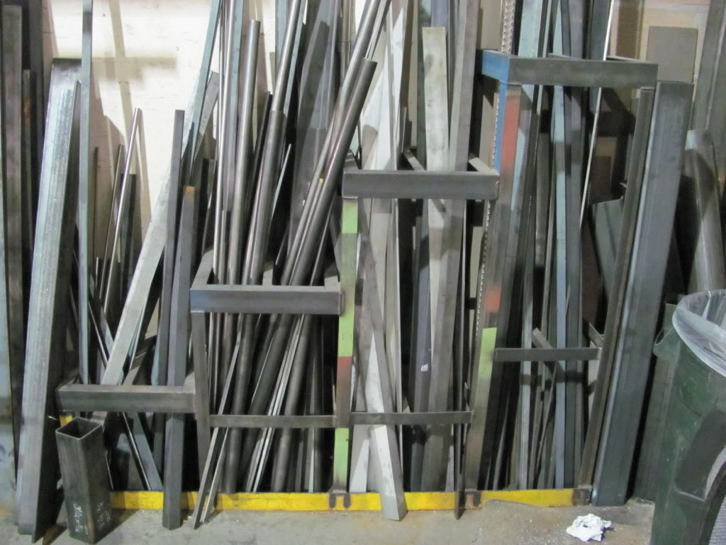 garage tool organization ideas - scrap steel rack ideas wanted