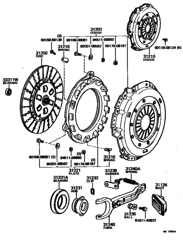 Clutch Fork Slave Spring 1981 Fj40 Ih8mud. Toyota Clutch Diagram. Toyota. Toyota Transmission Clutch Diagram At Scoala.co