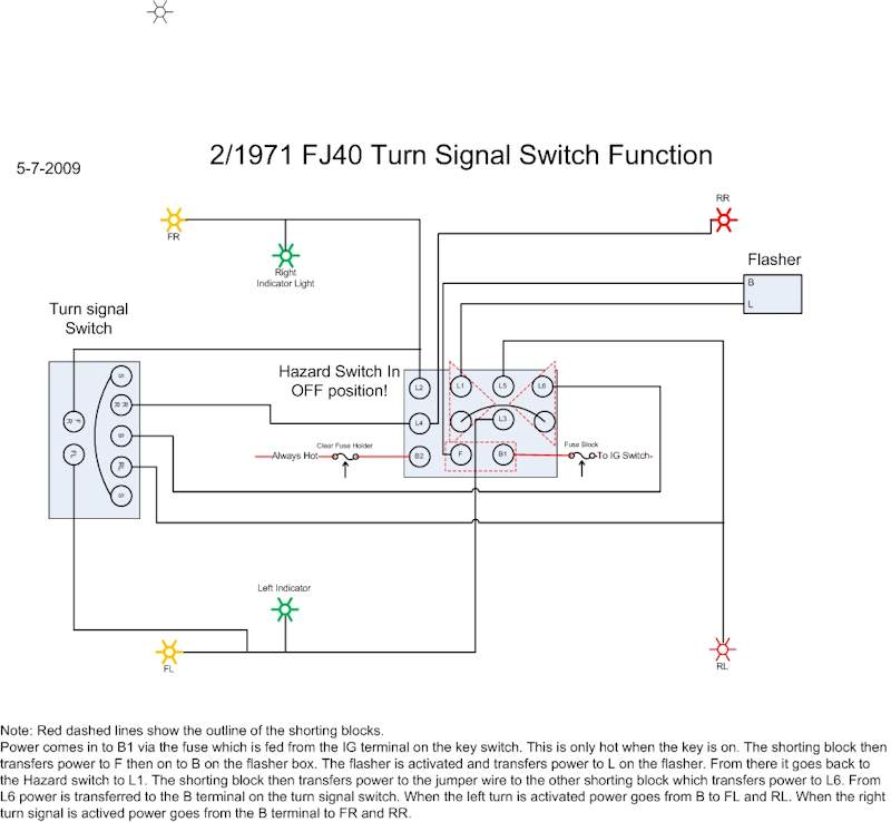 71 fj40 hazard wiring question