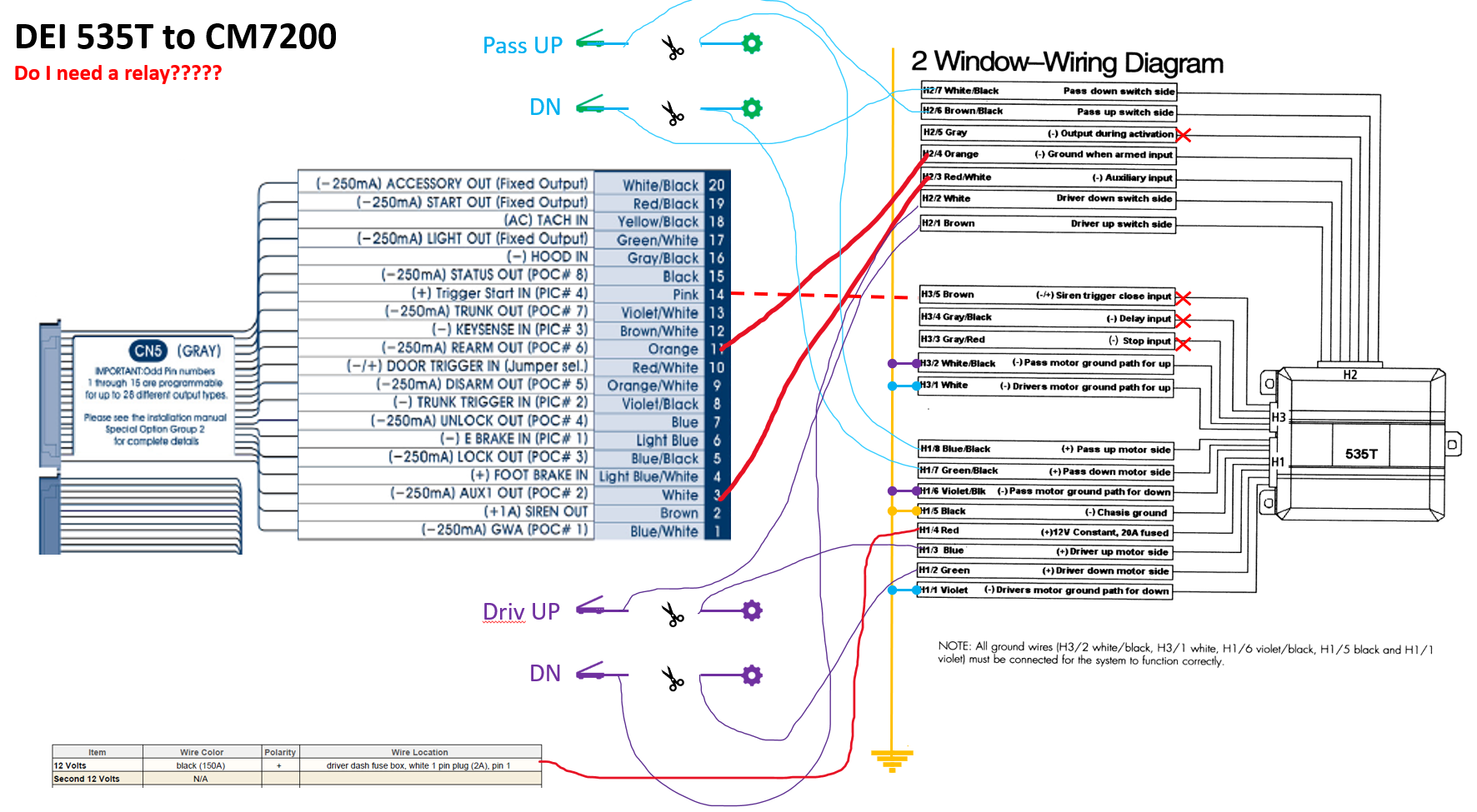 Installation Compustar Remote Starter + Window Roll-up Module (DEI 535T) +  Slide roof (DEI 529T) | IH8MUD ForumIH8MUD Forum