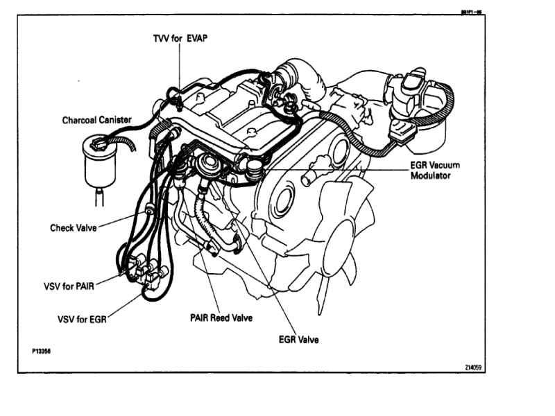 1989 Toyota pickup vacuum hose diagram