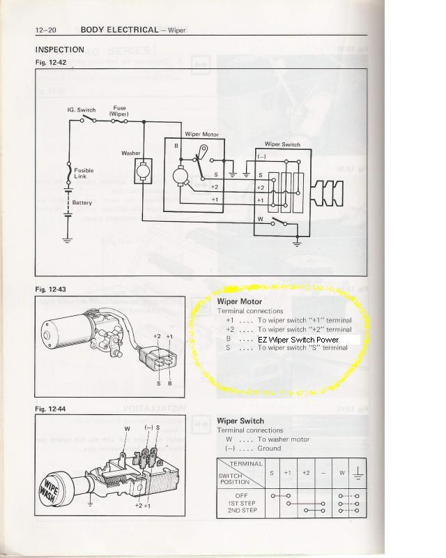 76 Wiper Switch Diagramschematic Ih8mud. Chevrolet. 1978 Chevy Pickup Wiper Motor Wiring Diagram At Scoala.co