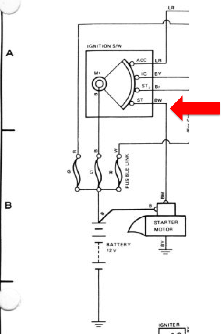 need source of ignition  start  crank  12v