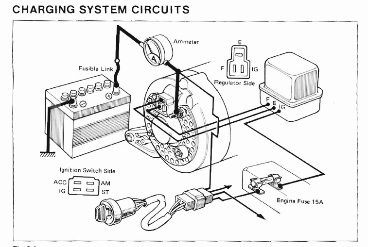 toyota yaris radio wiring diagram alternator wiring | ih8mud forum toyota yaris alternator wiring diagram