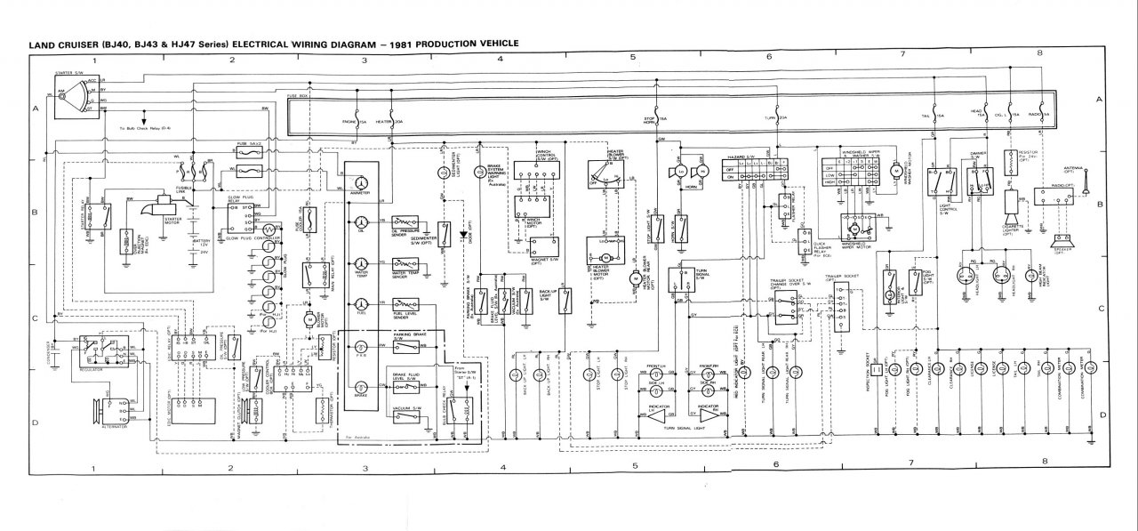 bj40 wiring harness schematic
