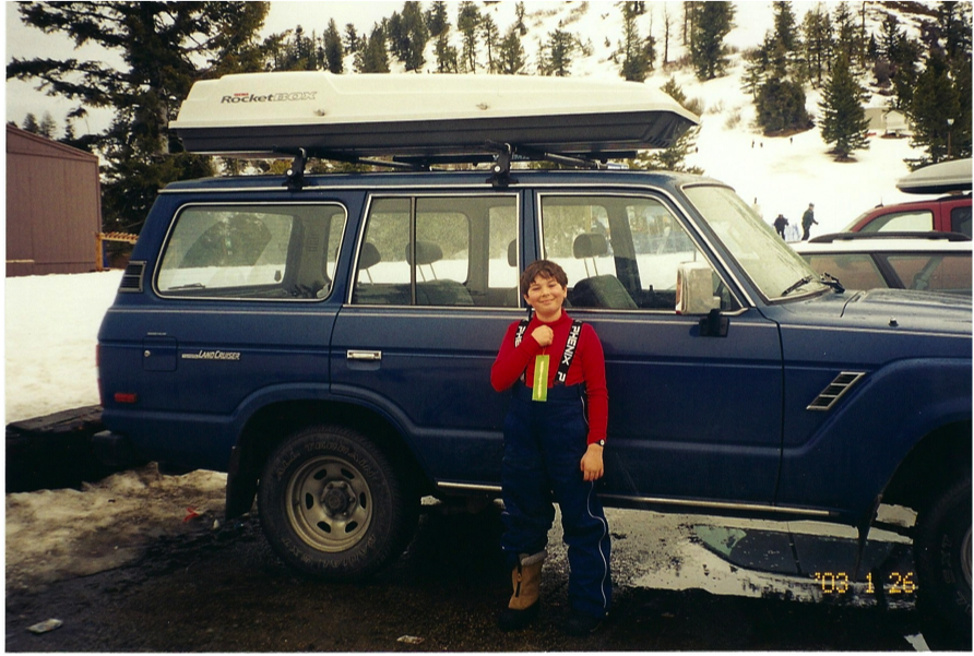 Young me with first car.png