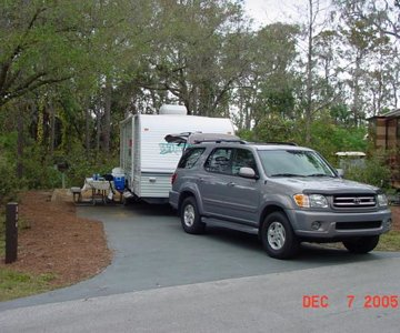 02 Sequoia towing 27FT Camper