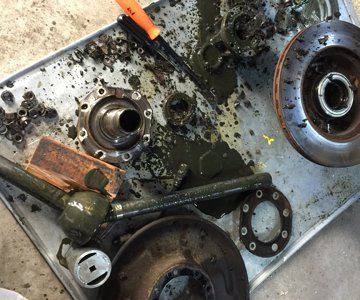 passenger side knuckle rebuild