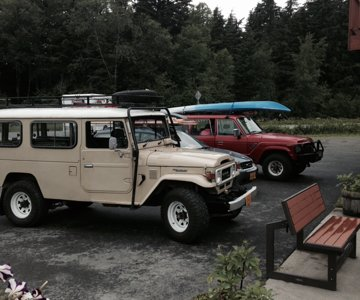 With someone's Troopy in Haines