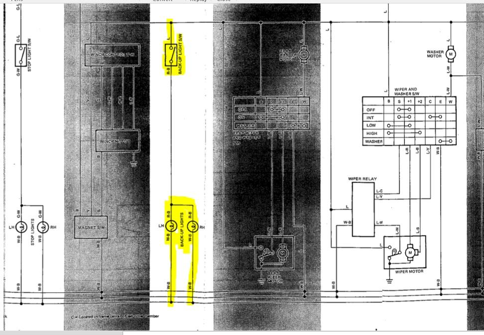 1985 Fj60 Reverse Light Diagram