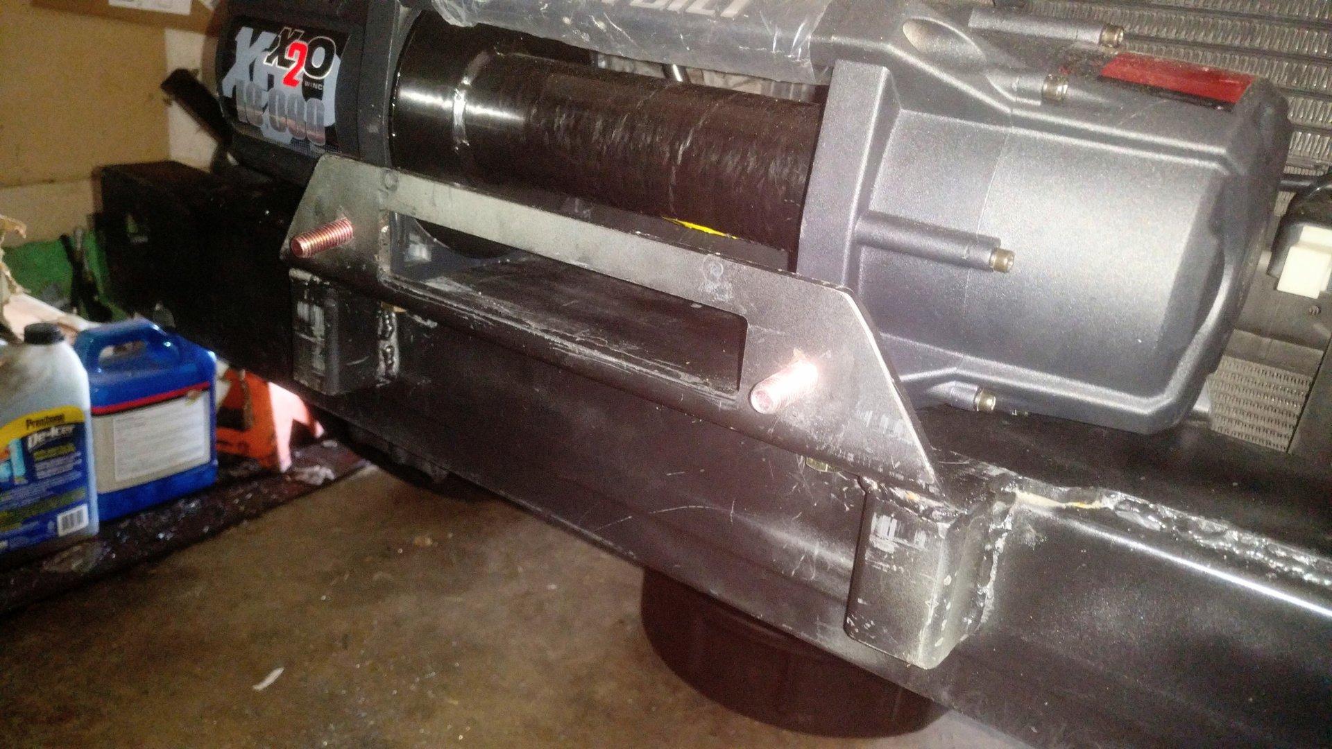 DIY hidden winch mount ideas | IH8MUD Forum