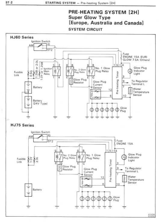 hj60 pre heating system wiring diagram ih8mud forum hj60 pre heating system wiring diagram