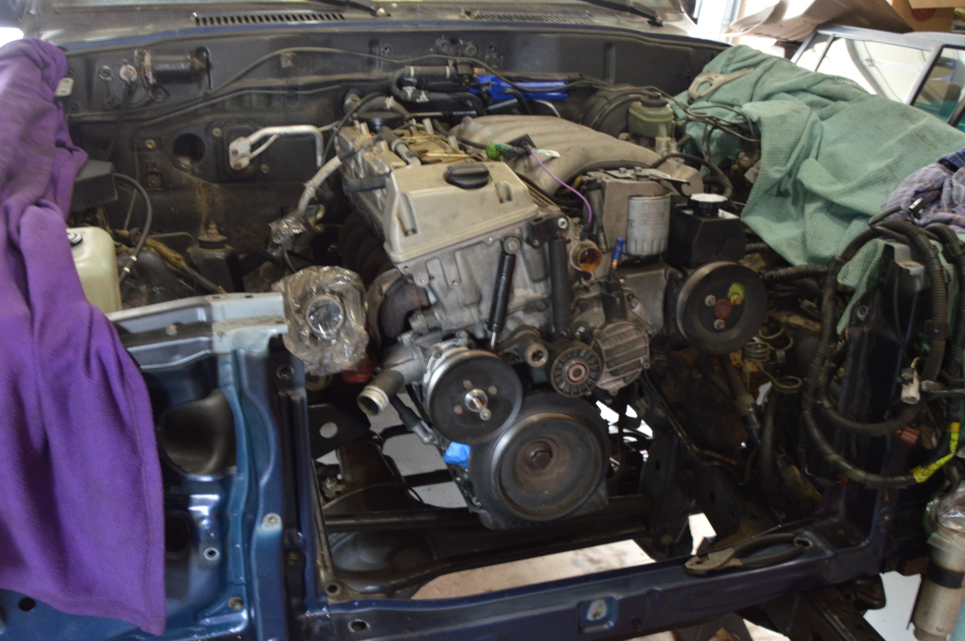 Builds - Mercedes OM606 Turbodiesel into FZJ80 - update: A/C