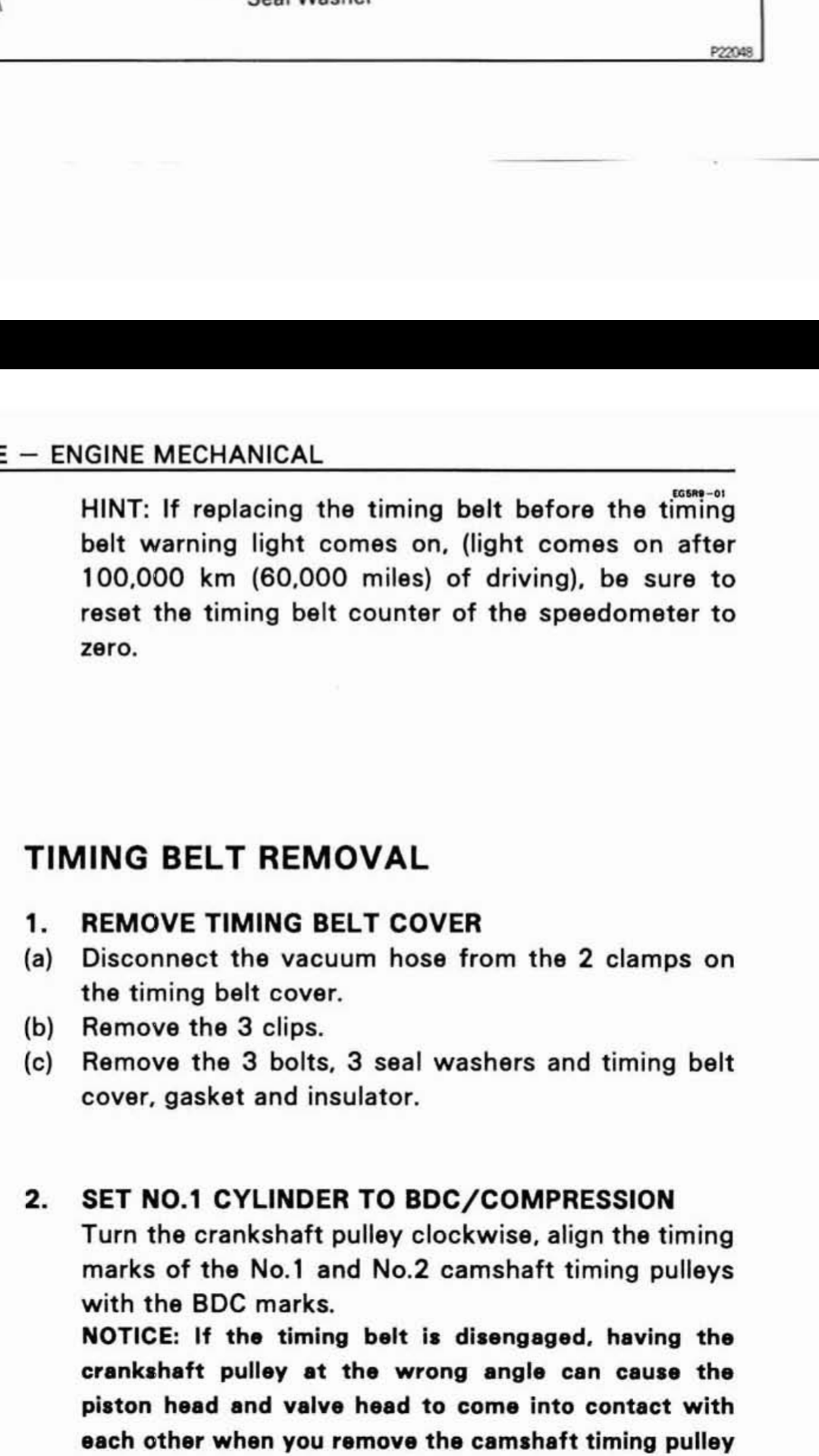 Toyota Land Cruiser Timing Belt Replacement Intervals